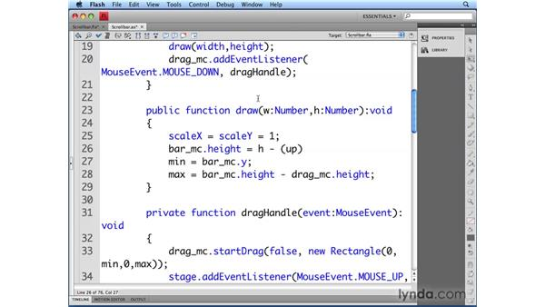 Controlling scroll bar scaling: Flash CS4 Professional: Building UI Elements
