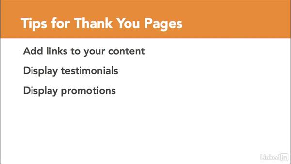 Create thank-you pages: Managing Email Marketing Lists and Campaigns