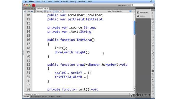 Controlling text area scaling: Flash CS4 Professional: Building UI Elements