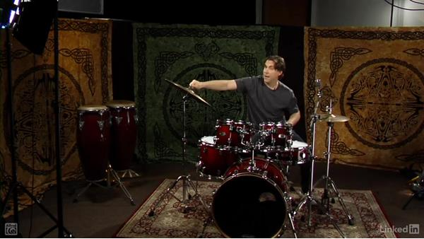 Setting up the hi-hats and cymbals: Drum Set Instruction: On The Beaten Path