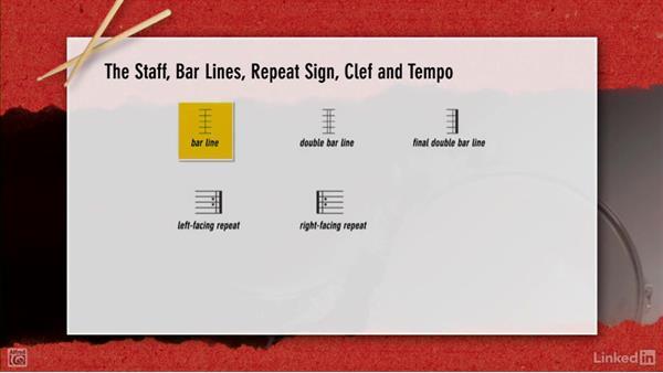 Reading music notation: Drum Set Instruction: On The Beaten Path