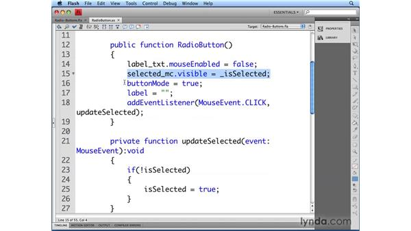 Viewing the RadioButton class: Flash CS4 Professional: Building UI Elements