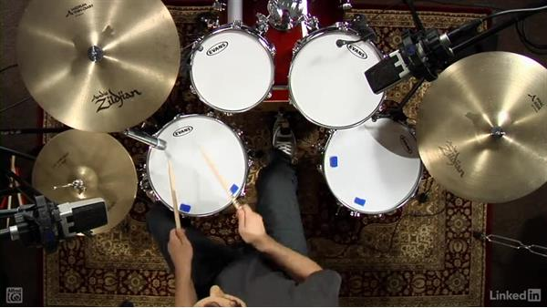 """Drum fill from """"Free Fallin'"""": Drum Set Instruction: On The Beaten Path"""