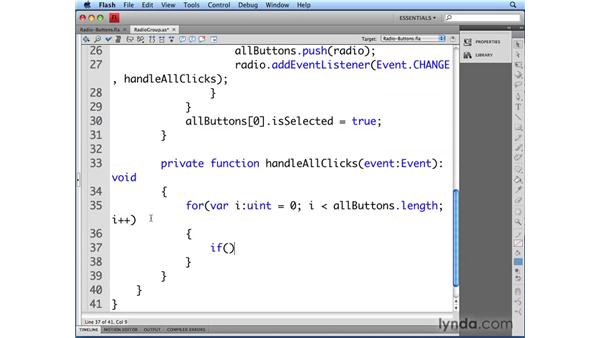 Initializing the RadioGroup class: Flash CS4 Professional: Building UI Elements