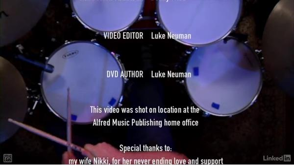 Conclusion & credits for level 1: Drum Set Instruction: On The Beaten Path