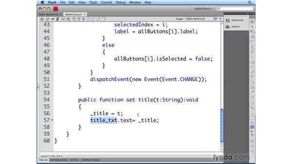 Adding a title: Flash CS4 Professional: Building UI Elements