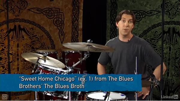 12-bar blues and turnaround fills: Drum Set Instruction: On The Beaten Path