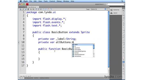 Creating the BasicButton class: Flash CS4 Professional: Building UI Elements