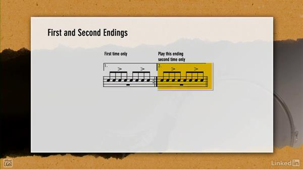 First and second endings: Drum Set Instruction: On The Beaten Path