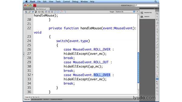 Defining button states: Flash CS4 Professional: Building UI Elements