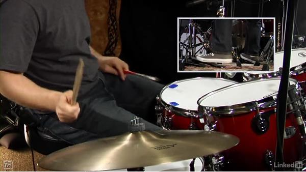 Open hi-hat foot splash: Drum Set Instruction: On The Beaten Path