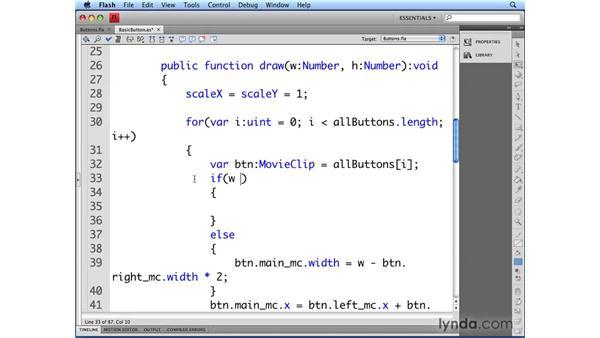 Auto-sizing the button's label: Flash CS4 Professional: Building UI Elements