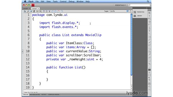 Creating the List class: Flash CS4 Professional: Building UI Elements