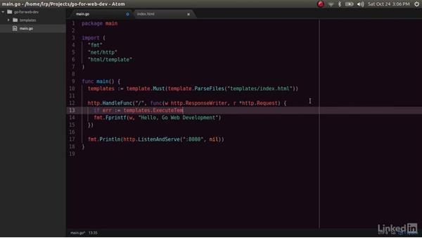 Using templates: Go for Web Development