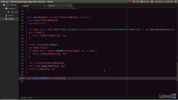 Using the database: Go for Web Development