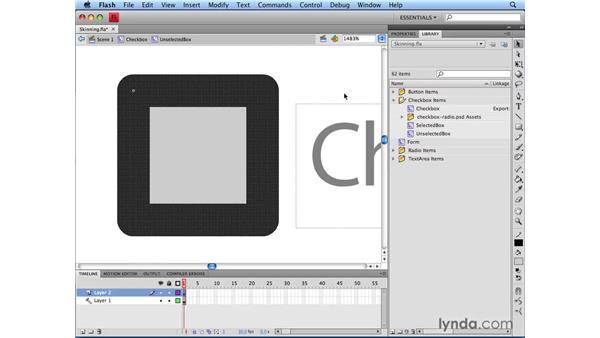 Skinning UI elements: Flash CS4 Professional: Building UI Elements