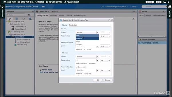 Resource pool example: Administer and Manage VMware vSphere Resources