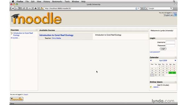 Introducing Moodle: Moodle 1.9 Essential Training for Students