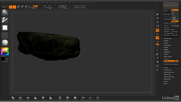 Beginning the base color: ZBrush: Polypaint