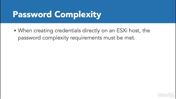 ESXi authentication options: Configure and Administer VMware vSphere Security