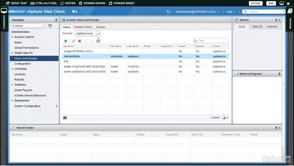 Configuring Single Sign-On users: Configure and Administer VMware vSphere Security