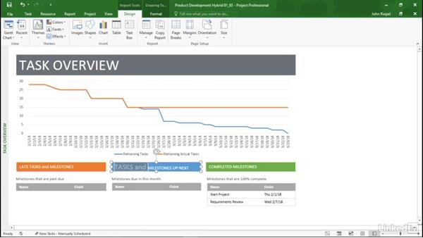 Editing an existing template: Mastering Microsoft Project Graphical Reports
