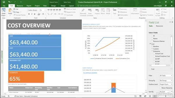 Building a Cost Overview report: Mastering Microsoft Project Graphical Reports