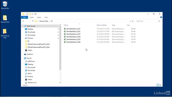 Using the exercise files: Managing Actual Values in Microsoft Project