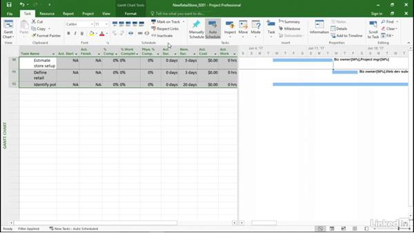 Updating tasks that run according to schedule: Managing Actual Values in Microsoft Project