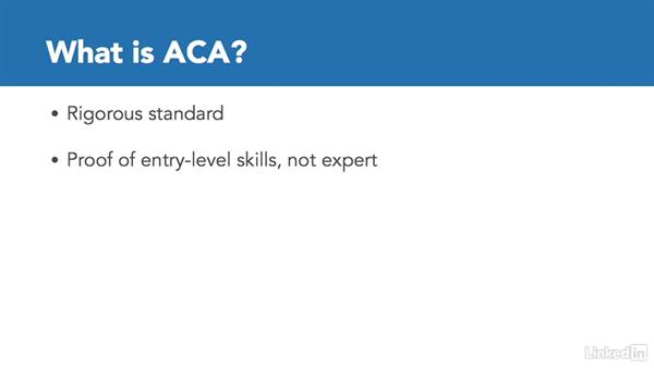What is ACA certification?