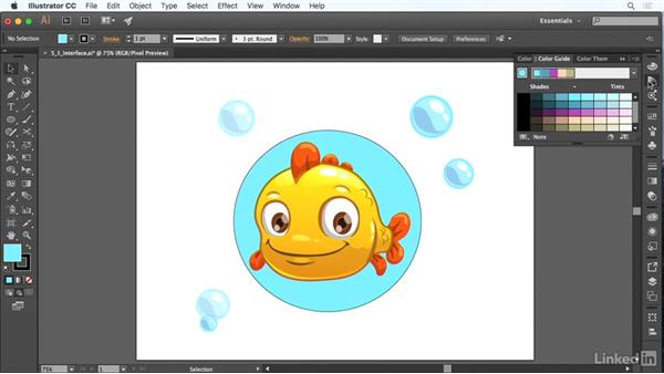 The user interface: Adobe Certified Associate Prep: Illustrator