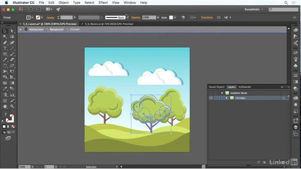 Use layers and masks: Adobe Certified Associate Prep: Illustrator
