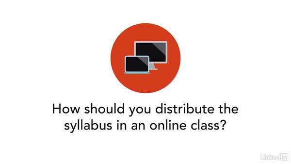 Distribution of an online syllabus: Learn to Write a Syllabus