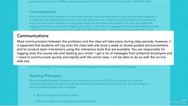 Online syllabus expectations: Learn to Write a Syllabus