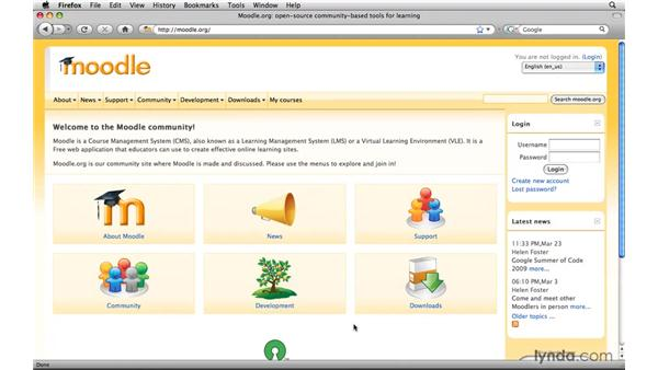 Getting started: Moodle 1.9 Essential Training for Teachers