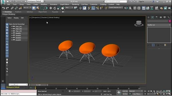 Select objects and define regions: Cert Prep: 3ds Max Certified Professional