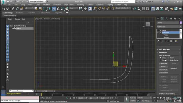 Edit splines: Cert Prep: 3ds Max Certified Professional