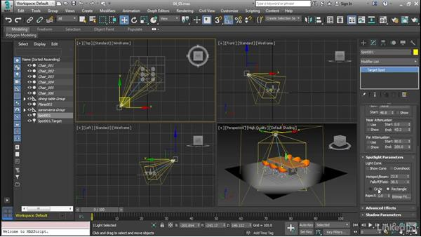 Understanding standard lighting types: Cert Prep: 3ds Max Certified Professional