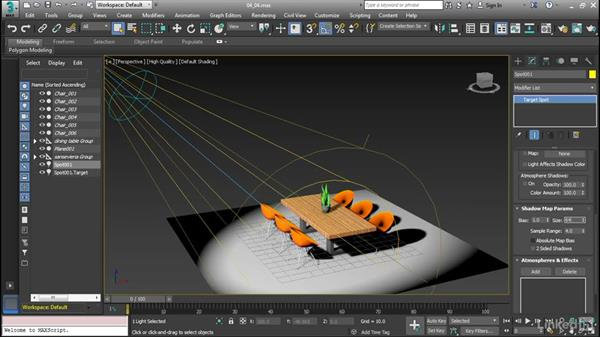 Modify shadow parameters: Cert Prep: 3ds Max Certified Professional