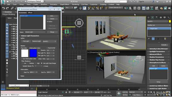 Create volumetric effects: Cert Prep: 3ds Max Certified Professional