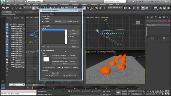 Using atmosphere effects: Cert Prep: 3ds Max Certified Professional