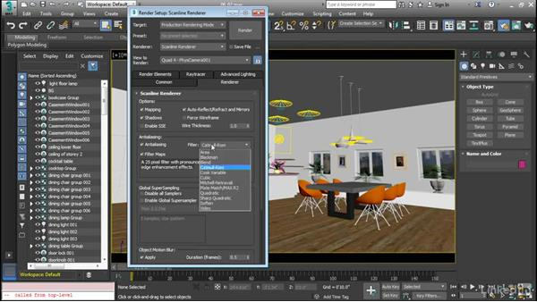 Working with rendering parameters: Cert Prep: 3ds Max Certified Professional