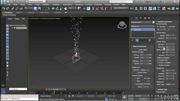 Configure particle systems: Cert Prep: 3ds Max Certified Professional