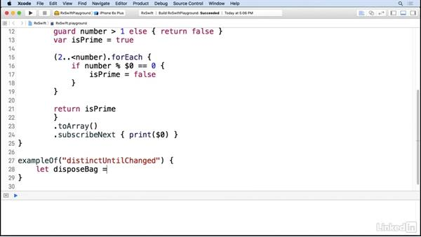 Filter observable sequences: Reactive Programming in iOS with RxSwift