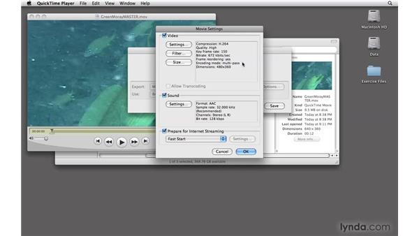 Preparing video files: Moodle 1.9 Essential Training for Teachers