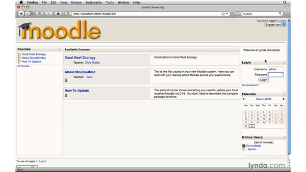 Enabling database auto-linking: Moodle 1.9 Essential Training for Teachers