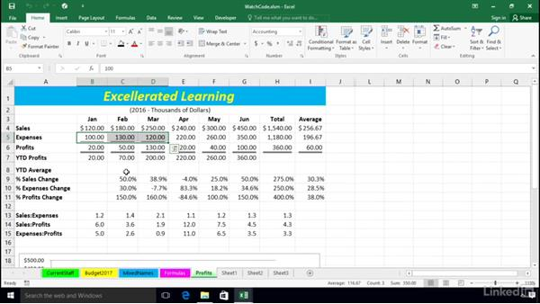 recording expenses in excel