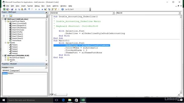 Expanding a macro with the If statement: Excel 2016: Macros in Depth