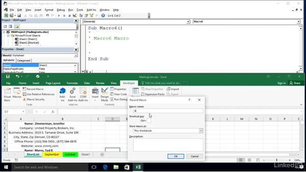 Absolute or relative references: Excel 2016: Macros in Depth