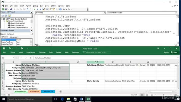 Using loop structures in context: Excel 2016: Macros in Depth